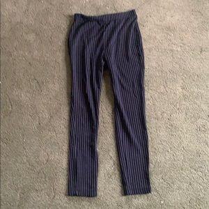 F21 Pinstriped Leggings